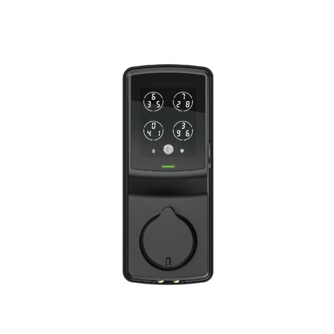 3 x PGD728FMB Lockly Secure Plus Digital Keypad Biometric Smart Deadbolt Door Lock, Black (3 Pack) 2
