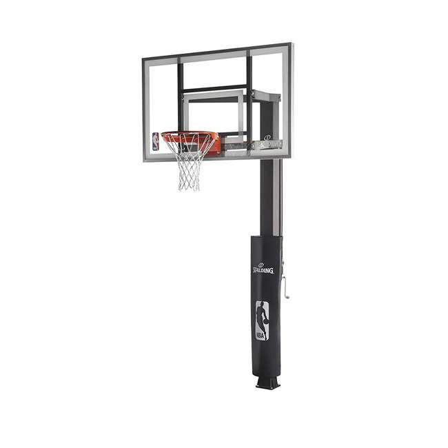 "88830G Spalding 60"" Glass 888 Series In-Ground Backyard Basketball Hoop 1"