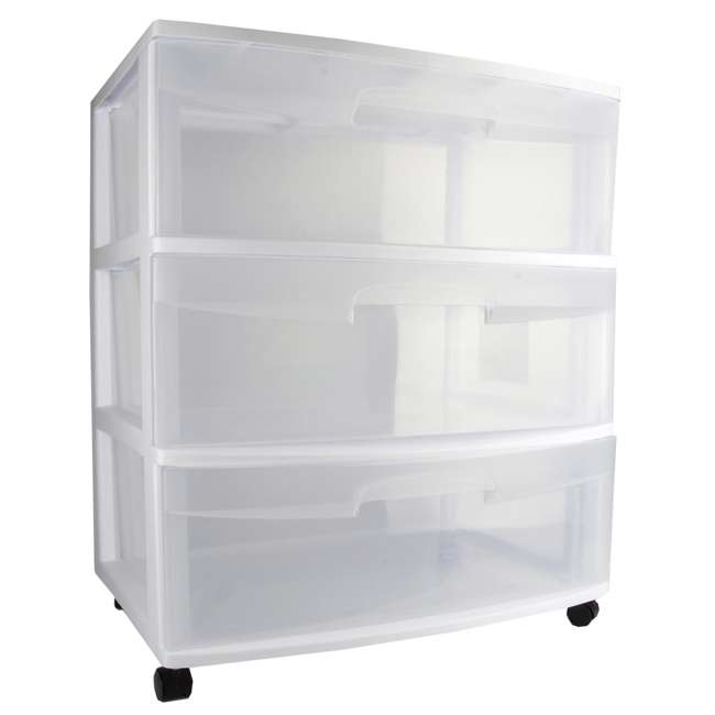 4 x 29308001 Sterilite 3-Drawer Wide Storage Container (4 Pack) 1