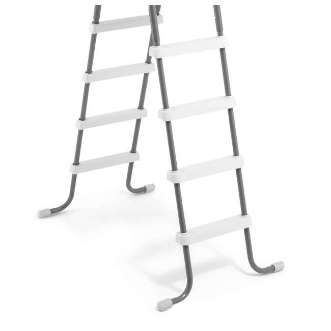 "28067E-U-A Intex Steel Frame Above Ground 52"" Wall Height Pool Ladder (Open Box) (2 Pack) 3"