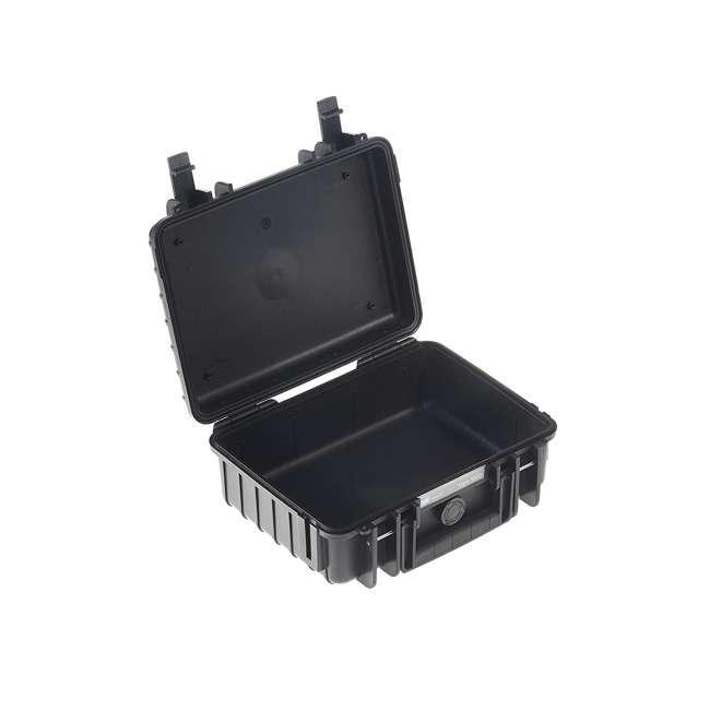 1000/B/SI + CS/500 B&W International 1000/B/SI Plastic Outdoor Case w/ SI Foam & Shoulder Strap 3
