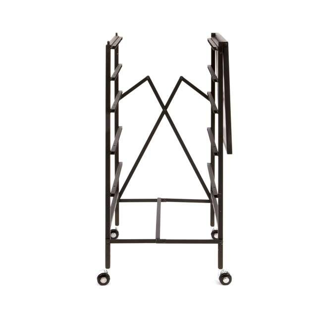 12 x DFS-05-BLACK Origami Wheeled Foldable 5-Drawer Storage Cart (12 Pack) 2