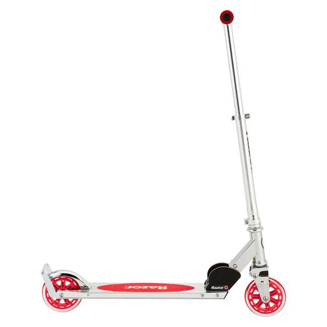 13014360 Razor A3 Kids Folding Aluminum Portable Scooter with Wheelie Bar, Red (2 Pack) 2