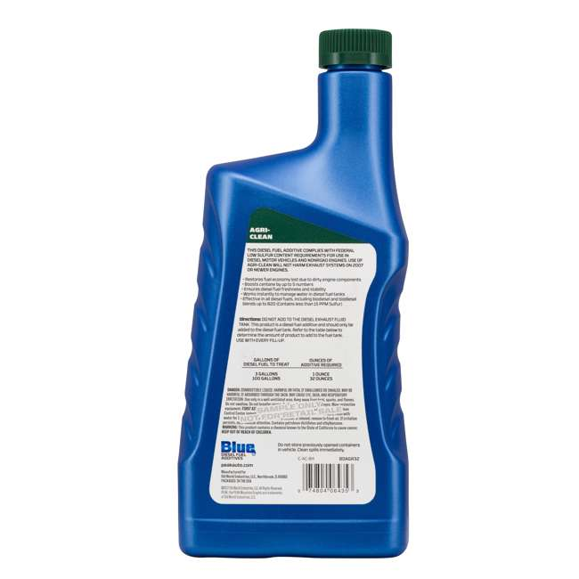 BDAGR32 PEAK Blue 32 Ounce Agri-Clean Liquid Fuel Stabilizer Additive for Diesel Engines 1