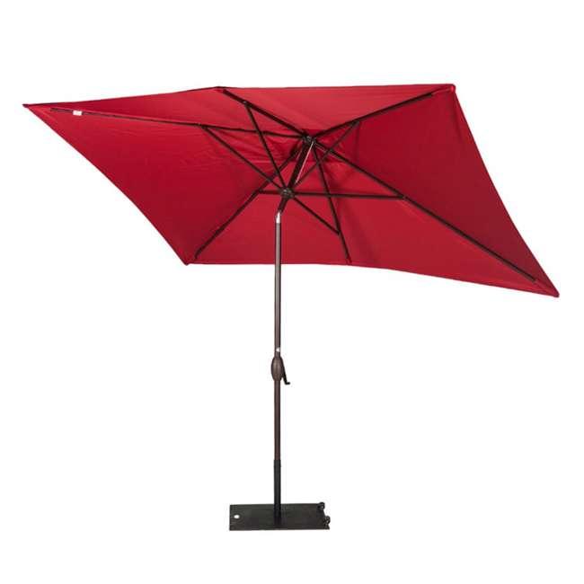 AP23386CTR Abba Patio 6.6 x 9.8 Feet Market Table Umbrella, Red 2