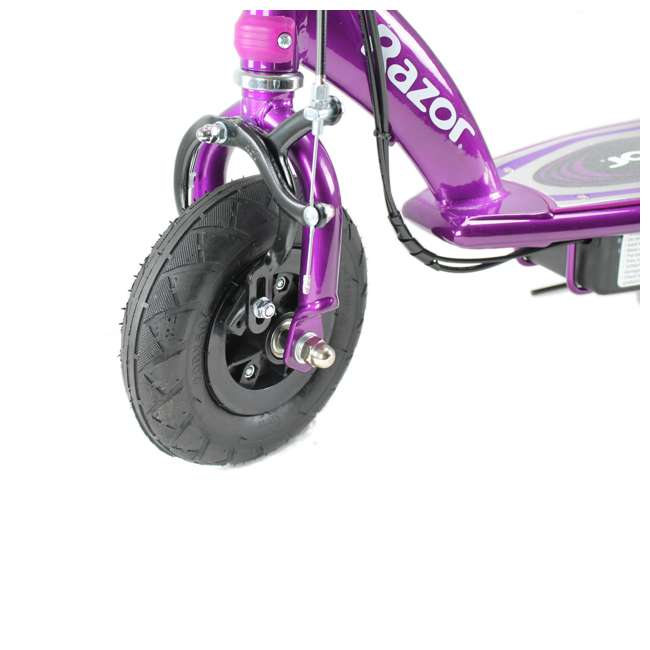 13111250 + 2 x 97778 Razor E100 Electric Scooters, Purple (2 Pack) + Helmets 5