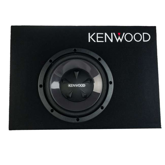P-W101B-U-B Kenwood 10 Inch Car Loaded Vented Subwoofer & 500W Amplifier Package (Used) 1