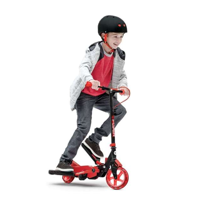 YFLYER-100739-U-A Yvolution Y Flyer Kids Childrens Youth Stepper Scooter, Ages 7+, Red (Open Box) 3