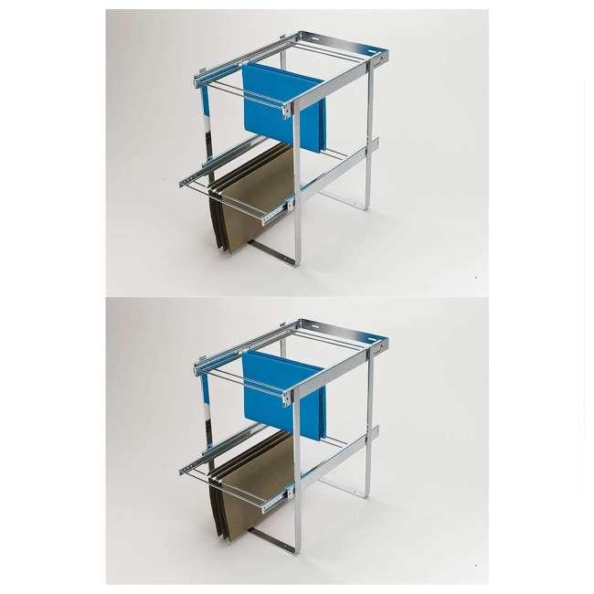 RAS-FD-KIT Rev-A-Shelf Series 2 Tier Standard Height Base Cabinet Organizer (2 Pack)