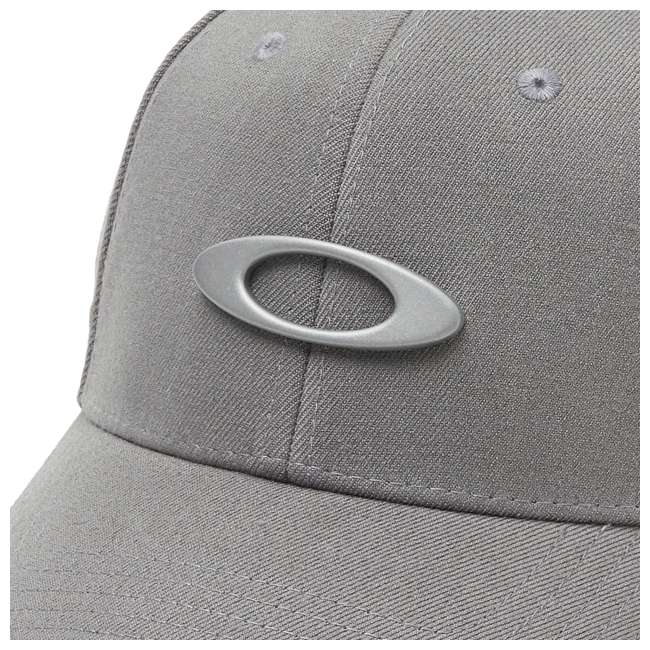 911545-23Q-SM Oakley Tincan Men's Small/Medium Fitted Hat, Grigio Scuro 2