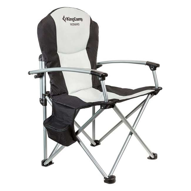 KC398700020000 KingCamp Heavy Duty Steel Padded Camping Director Folding Chair with Cooler Bag