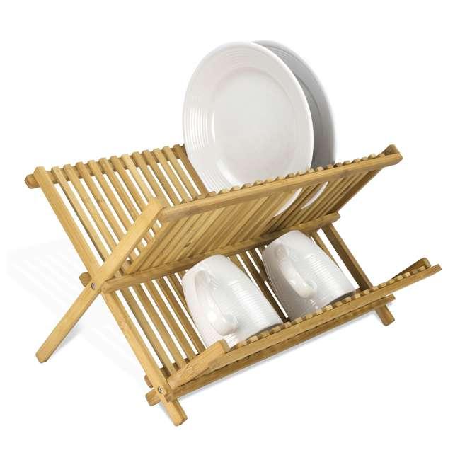 DD01018 + DR01036 + CH44543 Home Basics Dish Drainer & Drying Rack & Cooking Utensil Holder 6