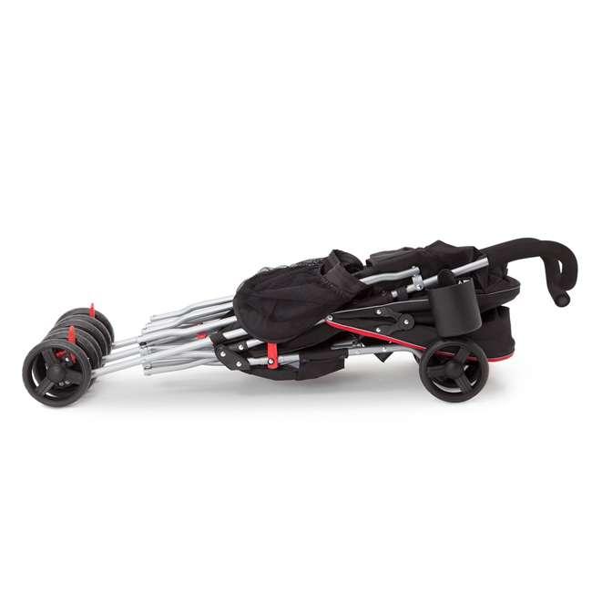 11709-2246 Delta Children LX Plus Side x Side Lightweight Double Stroller, Red Triangular 5