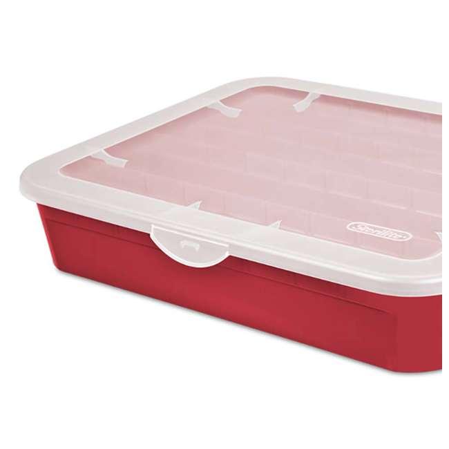 12 x 19796606 Sterilite Adjustable Ornament Storage Box, Red (12 Pack) 2