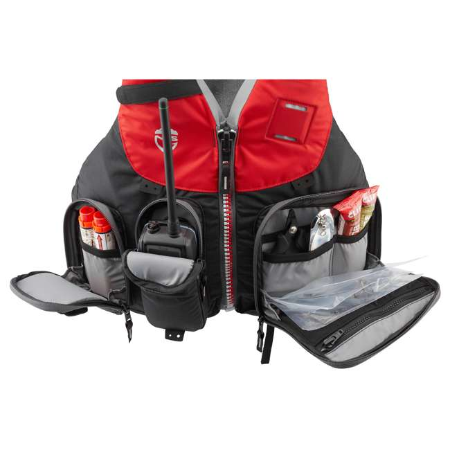 40071.01.103 NRS Chinook OS Type III Fishing Life Vest PFD with Pockets, Large/X Large, Red 5