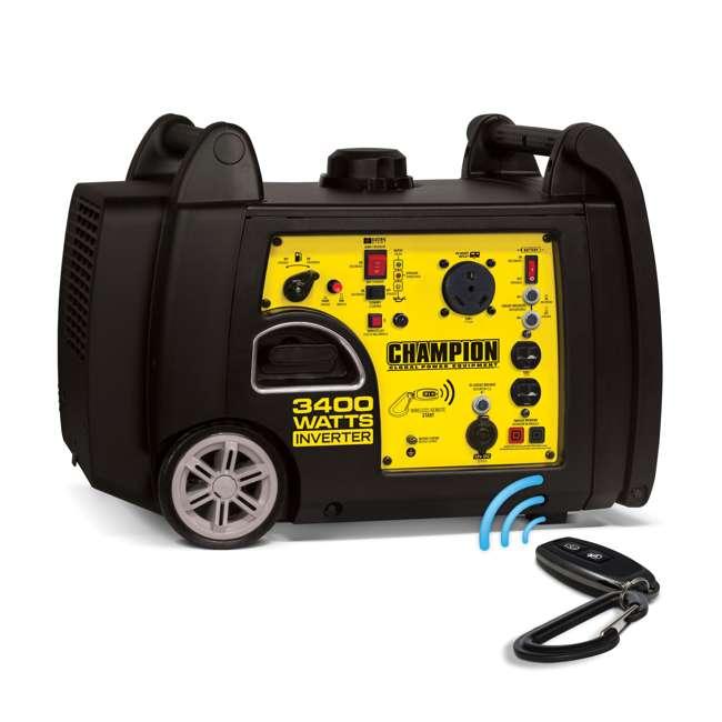 CPE-GN-100261 Champion 100261 34000-Watt Portable Wireless Electric Start Inverter Generator