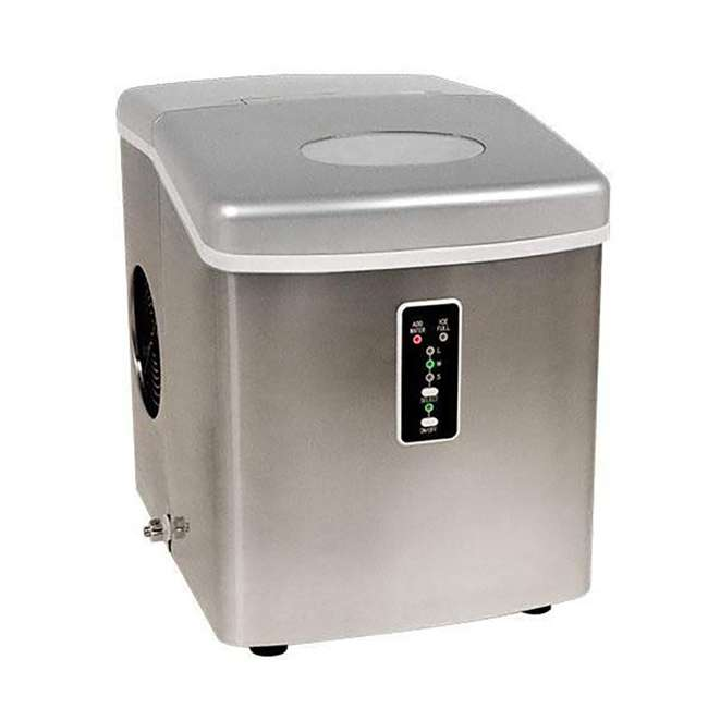 IP210SS EdgeStar 2.5 LB Capacity Countertop Portable Ice Cube Maker Machine, Stainless