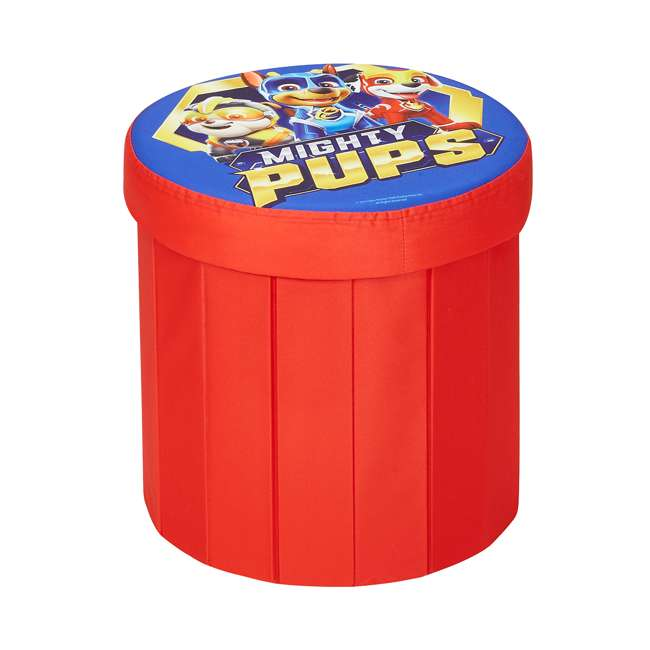 520122-005 Fresh Home Elements 15-Inch Round Portable Toy Chest and Ottoman, Paw Patrol