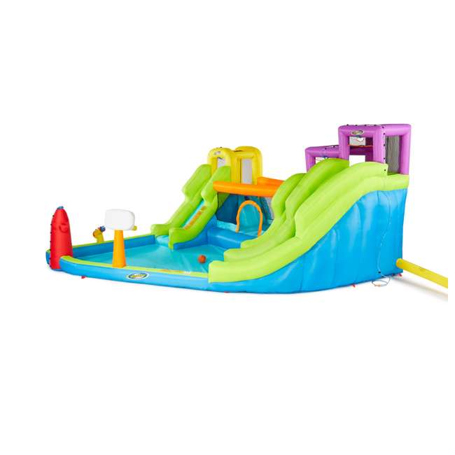MTI-90717 RipTide Triple Fun Inflatable PVC Water Park with 3 Slides & Obstacle Course 3