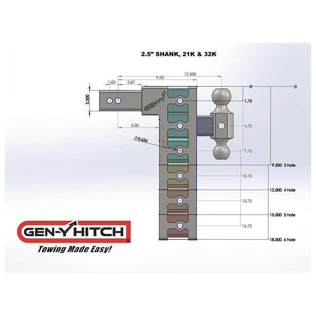 GH-624-OB GEN-Y 2.5-Inch Shank 21,000-Pound Drop Hitch with 9-Inch Drop 4