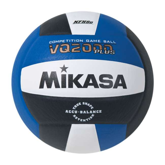 4 x VQ2000-RBW Mikasa USA Size 5 Composite Volleyball, Dark Blue (4 Pack) 1