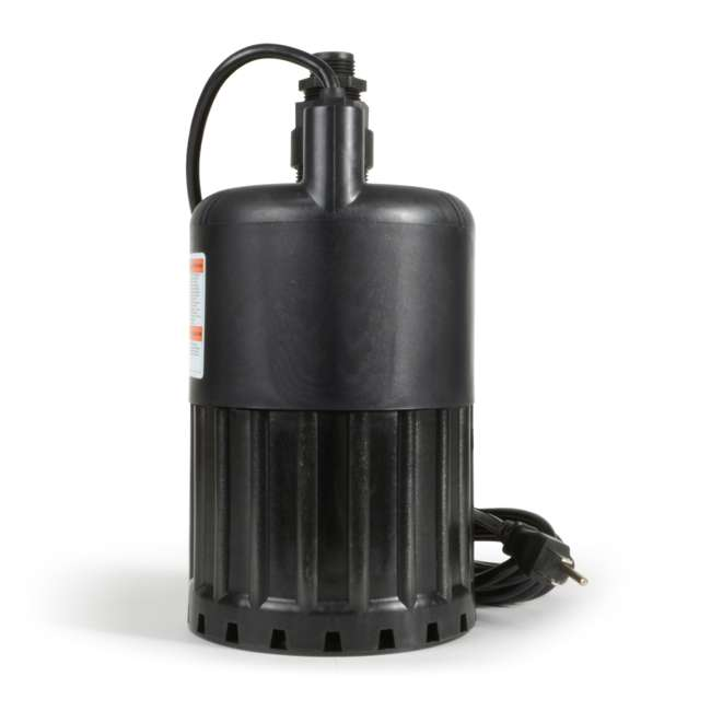 SUP80 Eco Flo SUP80 1/2 HP 3180 GPH Manual Submersible Thermoplastic Utility Pump 1