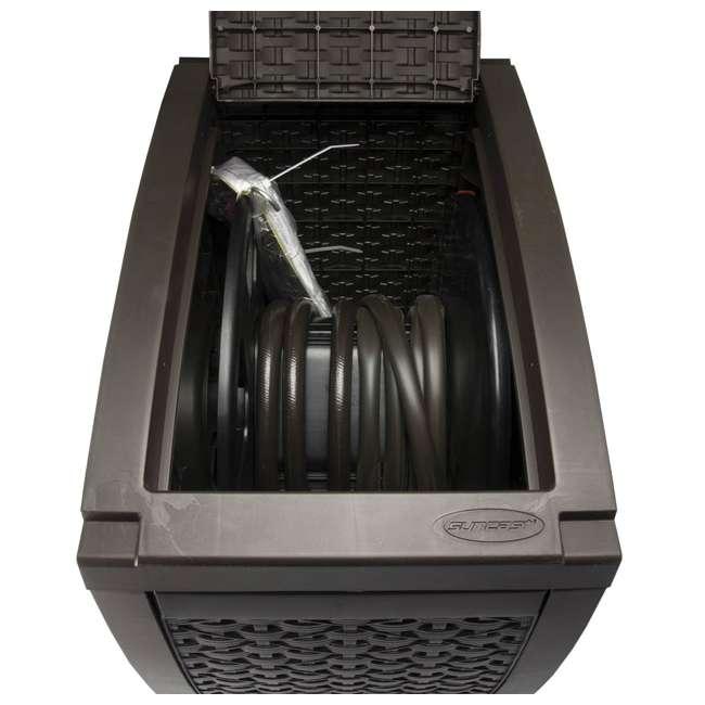 RSW125D-U-A Suncast 125 Ft Garden Hose Wicker Reel Touch and Go - Mocha (Open Box) (2 Pack) 4