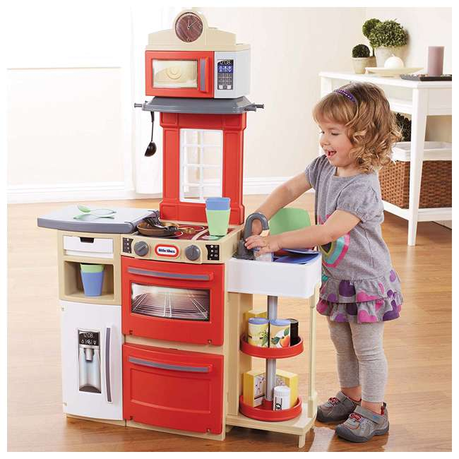 Little Tikes Kitchen Set: Little Tikes Cook 'n Store Kitchen, Red : 638701M
