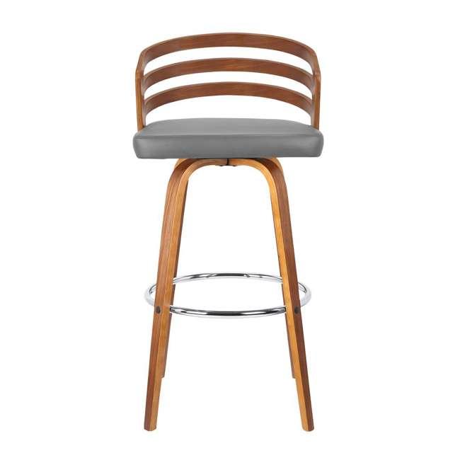 4 x LCJYBAGRWA30 Armen Living Jayden 30 Inch Mid Century Swivel Barstool Chair, Gray (4 Pack) 3