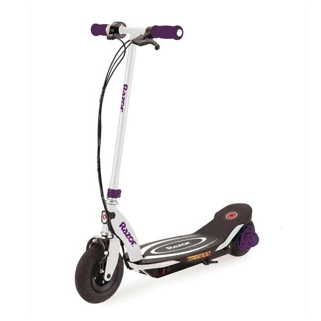 13111211 + 97913 Razor E100 Electric Hub Kids Motorized Kick Scooter With Splatter Bike Helmet 1