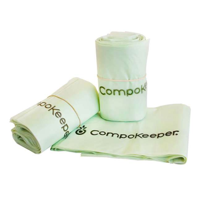 CK-6GL-BIN-WH-S CompoKeeper Kitchen 6 Gallon Compost Organic Waste Kitchen Bin Trash Can, White 1