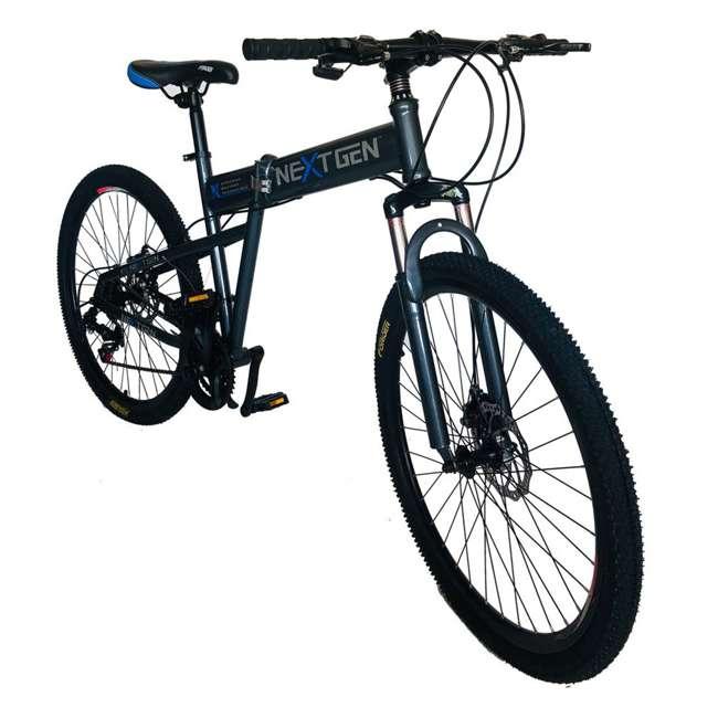 "MTB011-GRY NextGen 26"" 21 Speed Shimano Foldable Hardtail Downhill Mountain Bike, Gray 1"