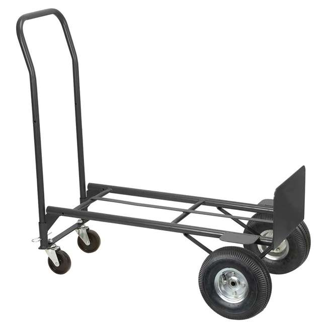 85-034 Olympia Tools 85-034 2 In 1 Convertible Rolling Steel Storage Cart Hand Truck 1
