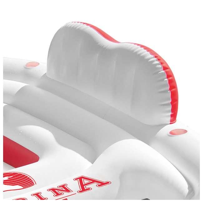 56296CA + 66639E Intex Inflatable Island Float Raft | Intex 120V Quick Fill AC Electric Air Pump 7