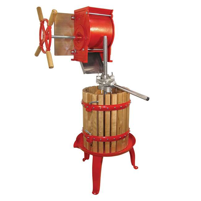 05-0101 Weston Cast-Iron and Wooden Home Juice and Wine Press