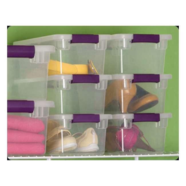 36 x 17511712-U-A  Sterilite 6-Qt ClearView Latch Box Storage Tote Container (Open Box) (36 Pack) 4