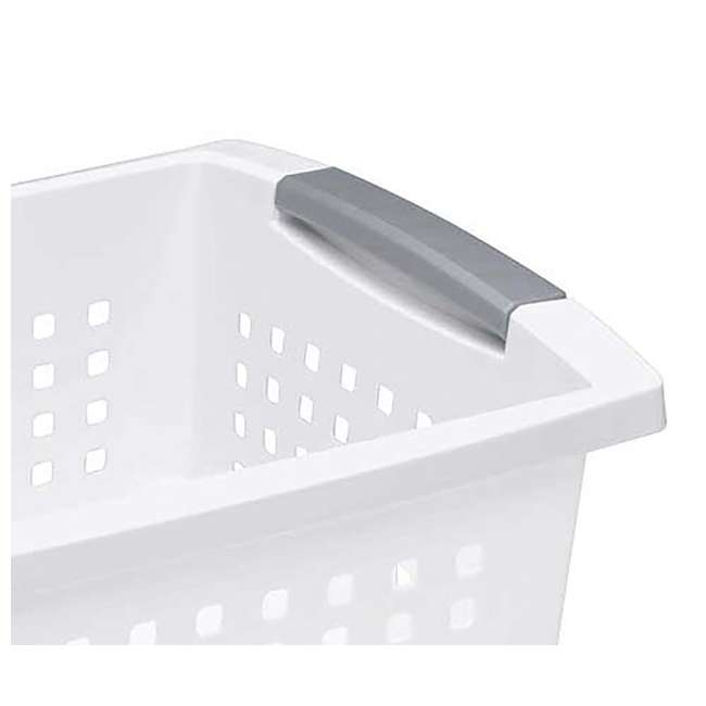 10 x 16648010 Sterilite Large Plastic Stackable Storage & Organization Basket, White (10 Pack) 2