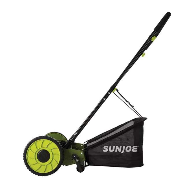 SUJ-MJ500M Sun Joe SUJ-MJ500M 16 Inch 4 Position Manual Reel Mower with Grass Catcher 2