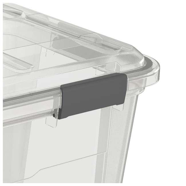 FBA32227 Ezy Storage Weather Proof IP65 50 Liter Plastic Storage Container Bin Box w/ Lid 2