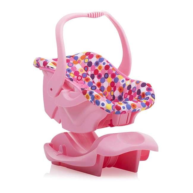 JVY-002 Joovy Toy Doll Pretend Play Children Car Seat, Pink Dot 4