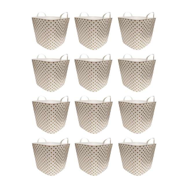 12 x TUB-GOLD-DOT Life Story 25-Liter Plastic Storage Tub Basket, Gold (12 Pack)