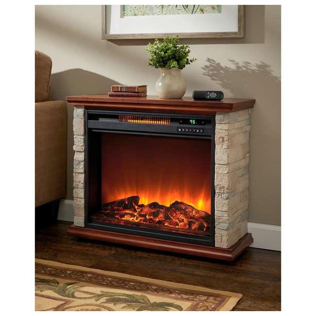 FP1136 Lifesmart FP1136 Large Room Infrared Quartz Fireplace Zone Heater, Faux Stone 3