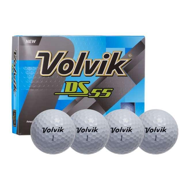 10 x DS-55 (White) Volvik DS55 Dual Spin Golf Balls, White (10 Packs of 12) 1