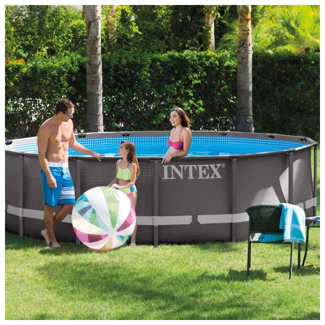 28343EH Intex 15-Foot x 48-Inch Ultra Frame Swimming Pool Set 1