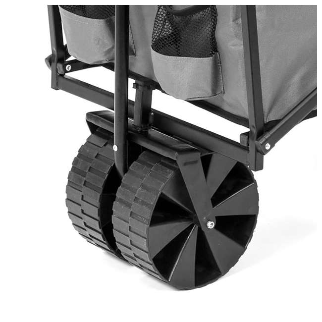 SUW-400GY Seina Collapsible Utility Beach Wagon and Cart, Gray (2 Pack) 3