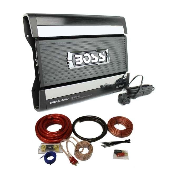 CE3800D + 0GAUGE Boss CE3800D 3800W Chaos Epic Mono D Amplifier with 0 Gauge Amp Kit