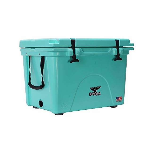 ORCSF058 Orca ORCSF058 58 Quart 72 Can Roto Molded Insulated Ice Cooler, Seafoam Blue 1