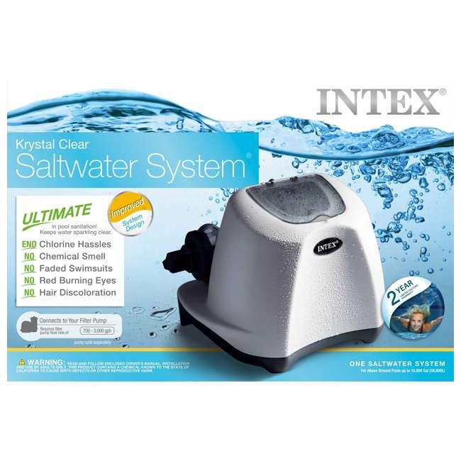 26645EG + 26669EG Intex Pool Sand Filter Pump w/Krystal Clear Saltwater System 10
