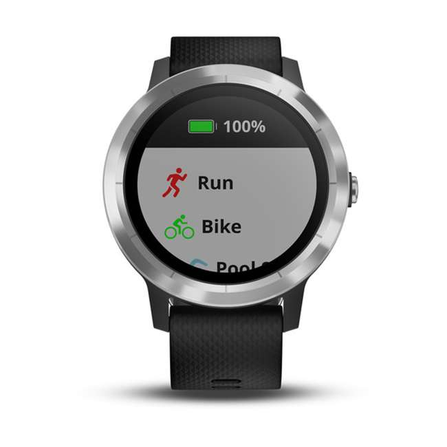 010-01769-01 Garmin Vívoactive 3 Active Smartwatch, Black with Silver 4