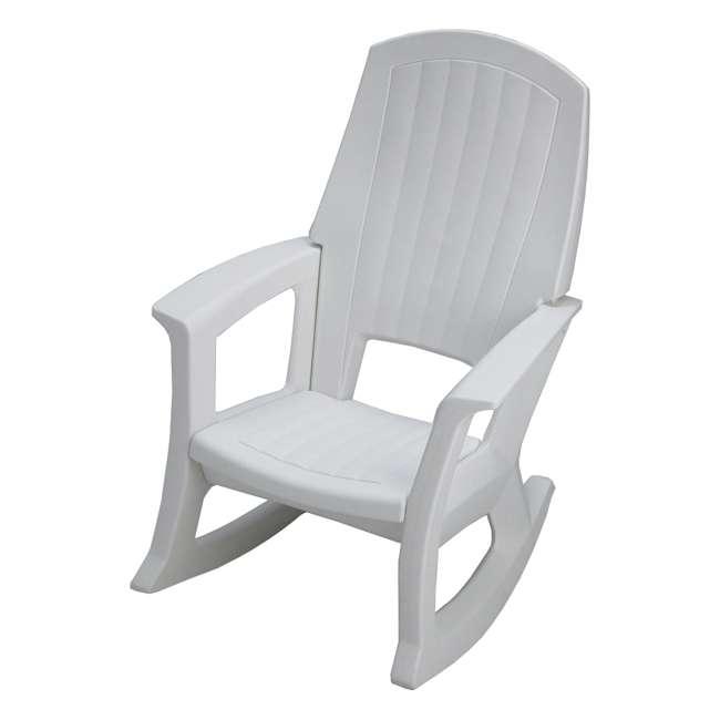 SEMW Semco Plastics SEMS Recycled Plastic Resin Outdoor Patio Rocking Chair, White
